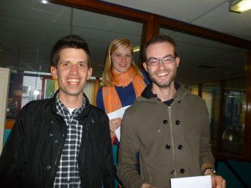 Toernooiwinnaars Joost Michielsen en Chiel van Oosterom