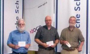 Winnaars ratingprijs t/m 1700: Rens ter Veen, Ed Eveleens en Gerard Bilars