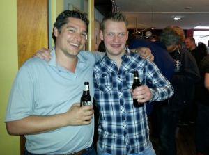 Toernooiwinnaars Arthur Pijpers en Edwin van Haastert